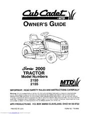 cub cadet 2155 manuals rh manualslib com Cub Cadet Maintenance Manual Cub Cadet Model 1030