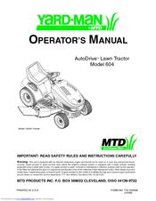 mtd yard man autodrive 604 operator s manual pdf download rh manualslib com Lawnflite MTD Gold MTD Snowblower Parts