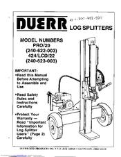 duerr 424 lcd 22 manuals rh manualslib com Duerr Log Splitter 20 Ton Duerr Log Splitter Pro 2.0