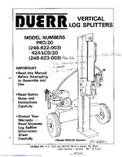 duerr pro 20 manuals rh manualslib com Duerr Log Splitter 2.5 Ton Duerr Parts