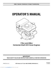 Mtd 208cc Manuals. Mtd 208cc Operator's Manual 24 Pages Horizontal Shaft Ohv Snow Engines. Wiring. Mtd 208cc Ohv Engine Diagram At Scoala.co
