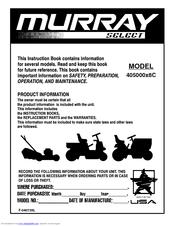 murray manuals