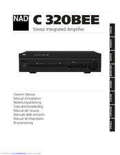 NAD C 320BEE OWNER'S MANUAL Pdf Download