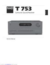nad t 753 owner s manual pdf download rh manualslib com Operators Manual User Manual PDF