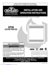 Napoleon Electric Fireplace Ef30 Manuals
