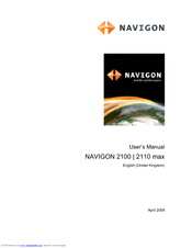 navigon 2100 user manual pdf download rh manualslib com Navigon 2100 Accessories Navigon 2100 Update