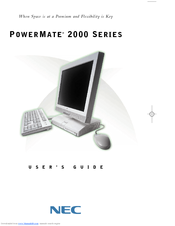 NEC 2000 Series User Manual