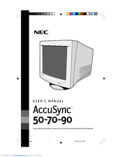 nec accusync 70 manuals rh manualslib com Example User Guide Quick Reference Guide