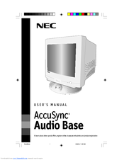 NEC ACCUSYNC AUDIO BASE User Manual