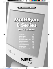 NEC ESERIES User Manual
