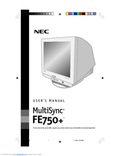 NEC MultiSync FE750+ User Manual