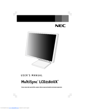 NEC MultiSync LCD2180UX Windows 8 Drivers Download (2019)