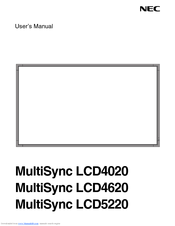NEC LCD4020-2-AV User Manual