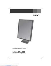 NEC MultiSync MD21GS-3MP Quick Reference Manual