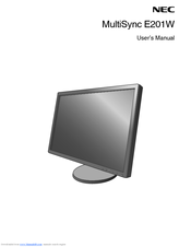 NEC E201W-BK-R User Manual