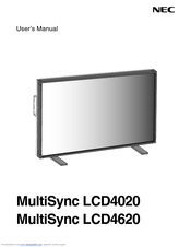 NEC LCD4020-BK-AV - 40IN LCD 1200:1 1366X768 60HZ Dvi-d 8MS User Manual