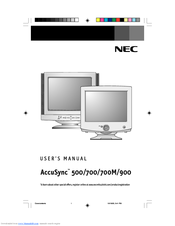 nec accusync 900 manuals rh manualslib com Clip Art User Guide Clip Art User Guide