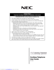 NEC DS1000 User Manual