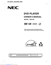 NEC NDV-28 Owner's Manual