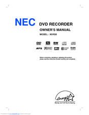 NEC NDR50 Owner's Manual