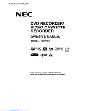 NEC NDRV-62 Owner's Manual