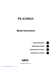 NEC PX-42XR4A Model Information