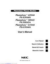 NEC PlasmaSync PX-61XM4A User Manual
