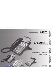 nec ux5000 manuals rh manualslib com NEC Handset Bluetooth NEC SV8100 Phone System