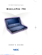 NEC MC/R550A - MobilePro 790 Handheld PC User Manual