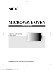 NEC N924W Operating Instructions & Cook Book