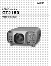 nec gt2150 series manuals rh manualslib com Kindle Fire User Guide User Guide Template