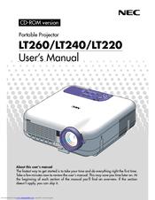 nec lt260 lt 260 xga dlp projector manuals rh manualslib com Old NEC Projectors Old NEC Projectors Cables