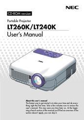 nec lt240k user manual pdf download rh manualslib com NEC Overhead Projector Old NEC Projectors