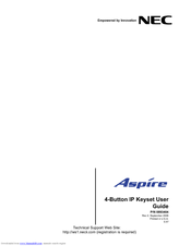 NEC Aspire 4-Button IP Keyset User Manual