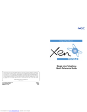NEC Single Line Telephone Quick Reference Manual