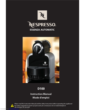 delonghi nespresso machine instructions