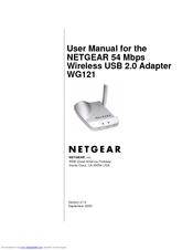 netgear wg121 54 mbps wireless usb 2 0 adapter manuals rh manualslib com Kindle Fire User Guide Kindle Fire User Guide