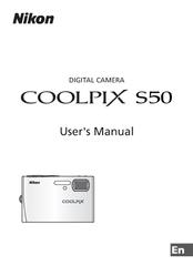 nikon coolpix s50 user manual pdf download rh manualslib com Nikon Coolpix S3000 Instruction Manual Nikon Coolpix Digital Camera Manual