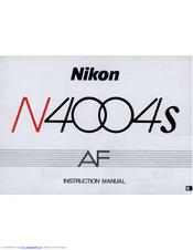 nikon n4004s instruction manual pdf download rh manualslib com Nikon N4004s 35Mm Camera Nikon 35Mm Film Camera