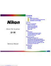 NIKON LS-30 REFERENCE MANUAL Pdf Download