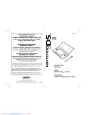nintendo usg 001 ds lite game console manuals rh manualslib com Nintendo Wii Nintendo Gameboy