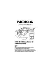 Nokia 6090 Installation Manual