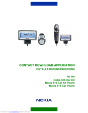 Nokia 810 Installation Instructions Manual