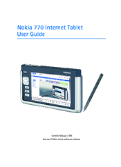 nokia 770 user manual pdf download rh manualslib com Nokia 770 Applications Nokia 770 Internet Tablet