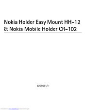 Nokia CR-102 User Manual
