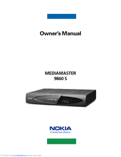 Nokia Mediamaster 9860 S Owner's Manual