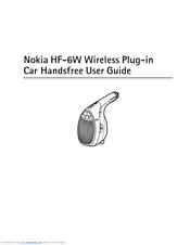 nokia hf 6w bluetooth hands free car manuals rh manualslib com Droid X Manual Nokia Touchscreen Manuals
