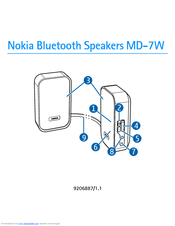 Nokia 02703V6 - Bluetooth Speaker User Manual
