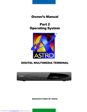 Nokia DIGITAL MULTIMEDIA TERMINAL Owner's Manual