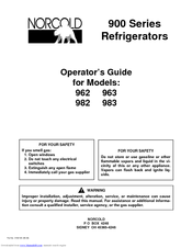 NORCOLD 962 OPERATOR'S MANUAL Pdf Download